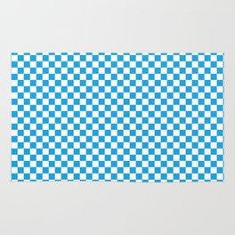Oktoberfest Bavarian Blue and White Checkerboard Rug