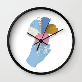 A Summer Hibiscus Wall Clock
