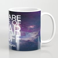 sagan Mugs featuring Carl Sagan Quote - Star Stuff by Yellow Bird Designs