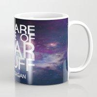 carl sagan Mugs featuring Carl Sagan Quote - Star Stuff by Yellow Bird Designs