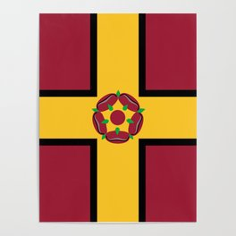 Northamptonshire county flag Poster