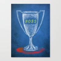 boss Canvas Prints featuring boss by Miranda J. Friedman