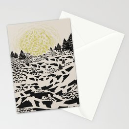 Trippy hills Stationery Cards