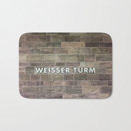 Nuremberg U-Bahn Memories - Weisser Turm Bath Mat