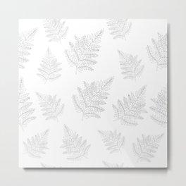 Farn Pattern Metal Print
