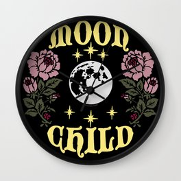 Moon Child Original By Moon Goddess Market Wall Clock
