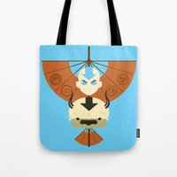 aang Tote Bags featuring Yip Yip by Ashley Hay