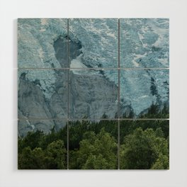 Mystic forest with Glacier in the Background Wood Wall Art