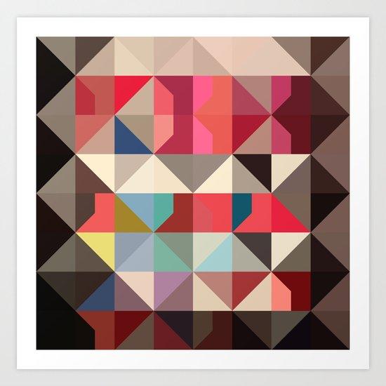 color story - frame of mind Art Print