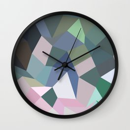 Light Pastel Purple Abstract Low Polygon Background Wall Clock