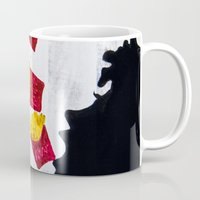 french fries Mugs featuring Oh fries by Drica Lobo Art