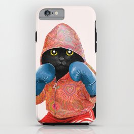 Boxing Cat 2  iPhone Case