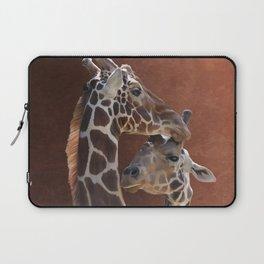 Endearing Giraffes Laptop Sleeve