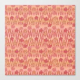 1960s flowers on zigzag Canvas Print
