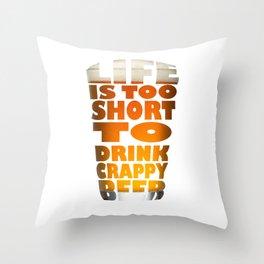 Beer glass Throw Pillow