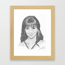 Halle Berry Framed Art Print