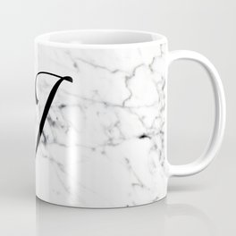 Letter J on Marble texture Initial personalized monogram Coffee Mug