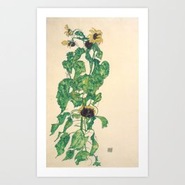 "Egon Schiele ""Sonnenblumen"" Kunstdrucke"