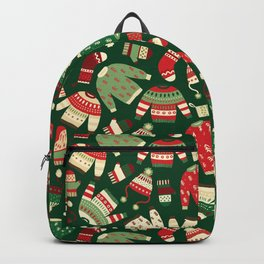 Ugly Christmas Fashion red green white Backpack