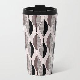 Mauve & black leaves Travel Mug