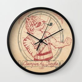 Champion of the Jungle Wall Clock