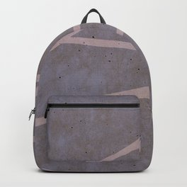 Geometric Pink Concrete Backpack
