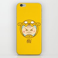 finn and jake iPhone & iPod Skins featuring Jake & Finn  by Miguel Manrique