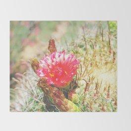 Iridescent Cactus Flower Throw Blanket