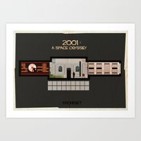 stanley kubrick Art Prints featuring 2001 A Space Odyssey_Directed by Stanley Kubrick by federico babina