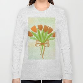 Orange Tulips Spring Long Sleeve T-shirt