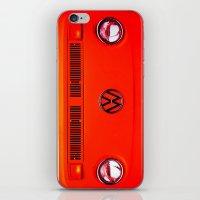 volkswagon iPhone & iPod Skins featuring  Volkswagon Bug Van by Lavender~Ramonde