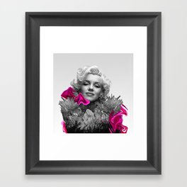 Quartz Armor & Roses in Her Hair Framed Art Print