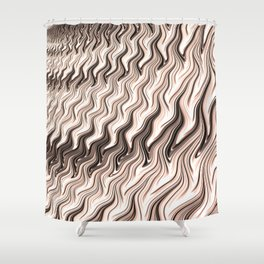 Melted Chocolate Shower Curtain