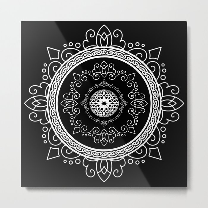 Celtic Soul Mandala Metal Print