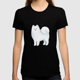 Samoyed Pattern (Blue Background) T-shirt