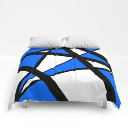 China Blue Geometric Triangle Abstract Comforters