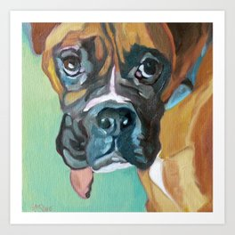 Drako the Rescued Boxer Art Print