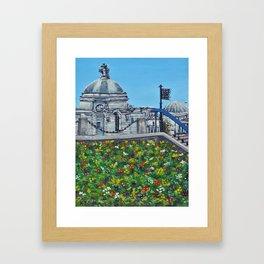 Spring at City Hall, Cardiff Framed Art Print