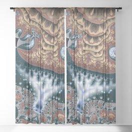 Trees in Meditation Fractal Sheer Curtain