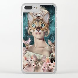Cat Lady Clear iPhone Case