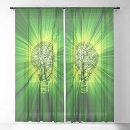 Think Green Sheer Curtain