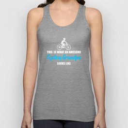 awesome cycling grandpa Unisex Tank Top