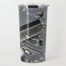 Elements of electronic circuit board Travel Mug