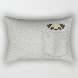 Pocket Pug Rectangular Pillow