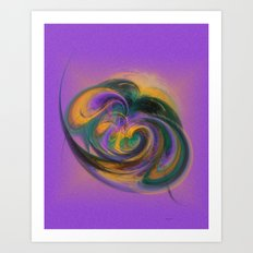 a child loves playing with colours Art Print