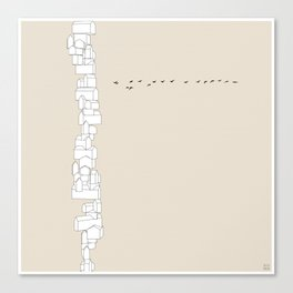 Vertical City Canvas Print