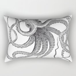 Engraving Octopus Rectangular Pillow