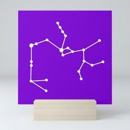 Sagittarius (White & Purple) Mini Art Print