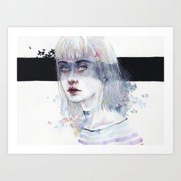 Blindfolded Goddess Art Print