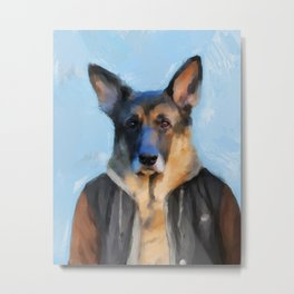 Chic German Shepherd Metal Print